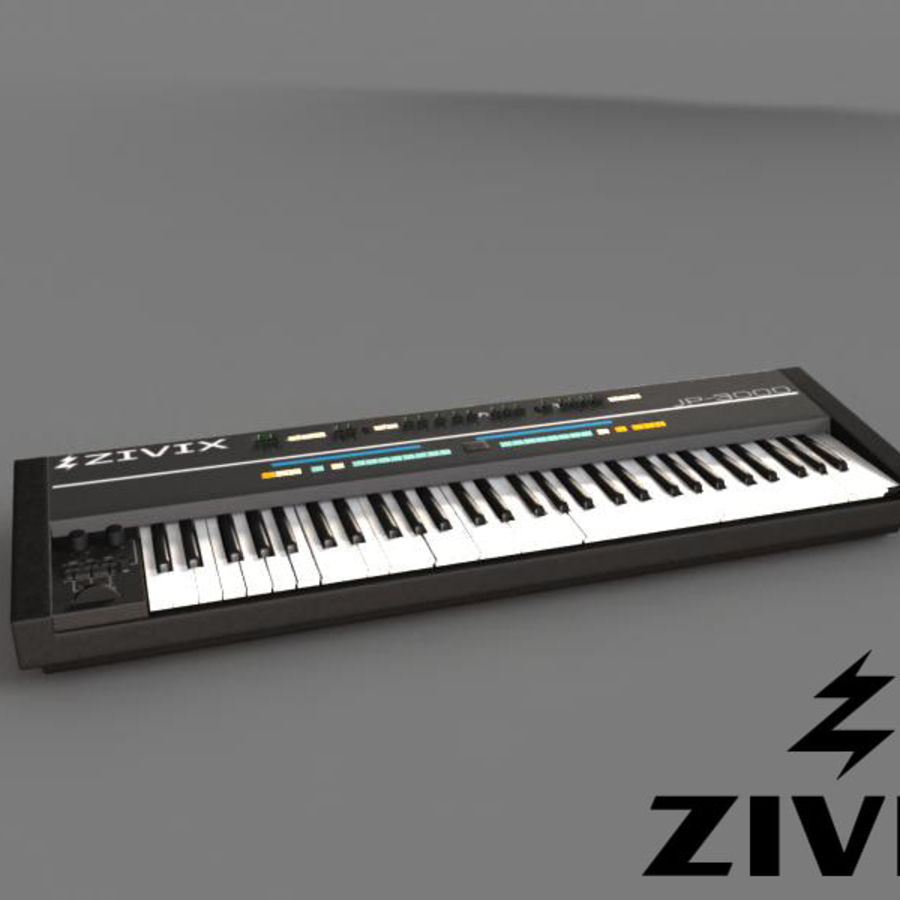 Synthesizer Keyboard royalty-free 3d model - Preview no. 2