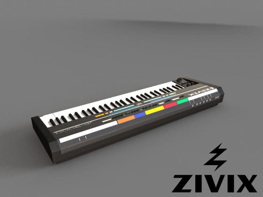 Synthesizer Keyboard royalty-free 3d model - Preview no. 3