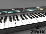 Synthesizer Keyboard 3d model