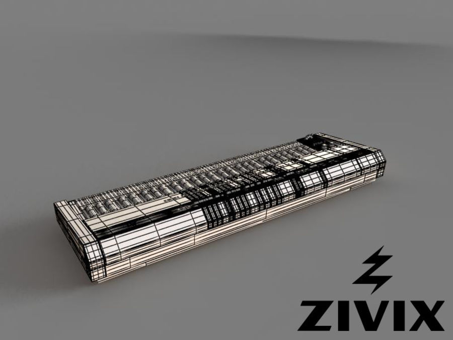 Synthesizer Keyboard royalty-free 3d model - Preview no. 5