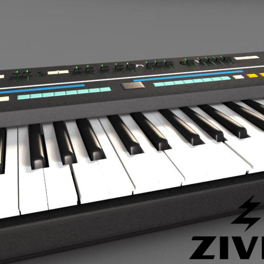Synthesizer Keyboard royalty-free 3d model - Preview no. 1