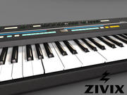 Synthesizertoetsenbord 3d model