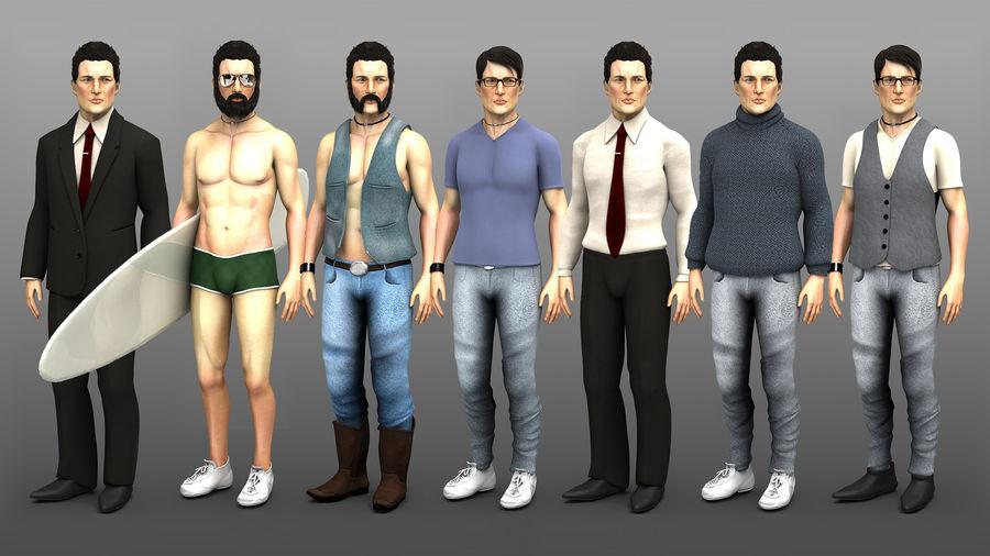 John royalty-free 3d model - Preview no. 2