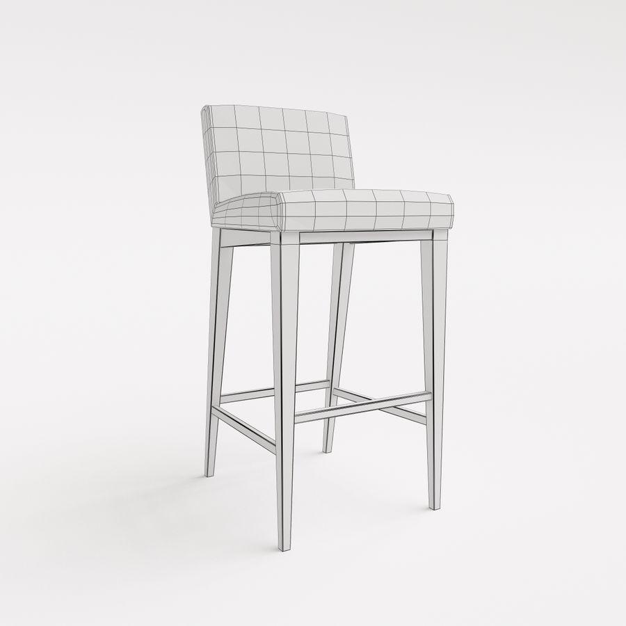 Morgan Furniture city 430 - BARSTOOL royalty-free 3d model - Preview no. 4