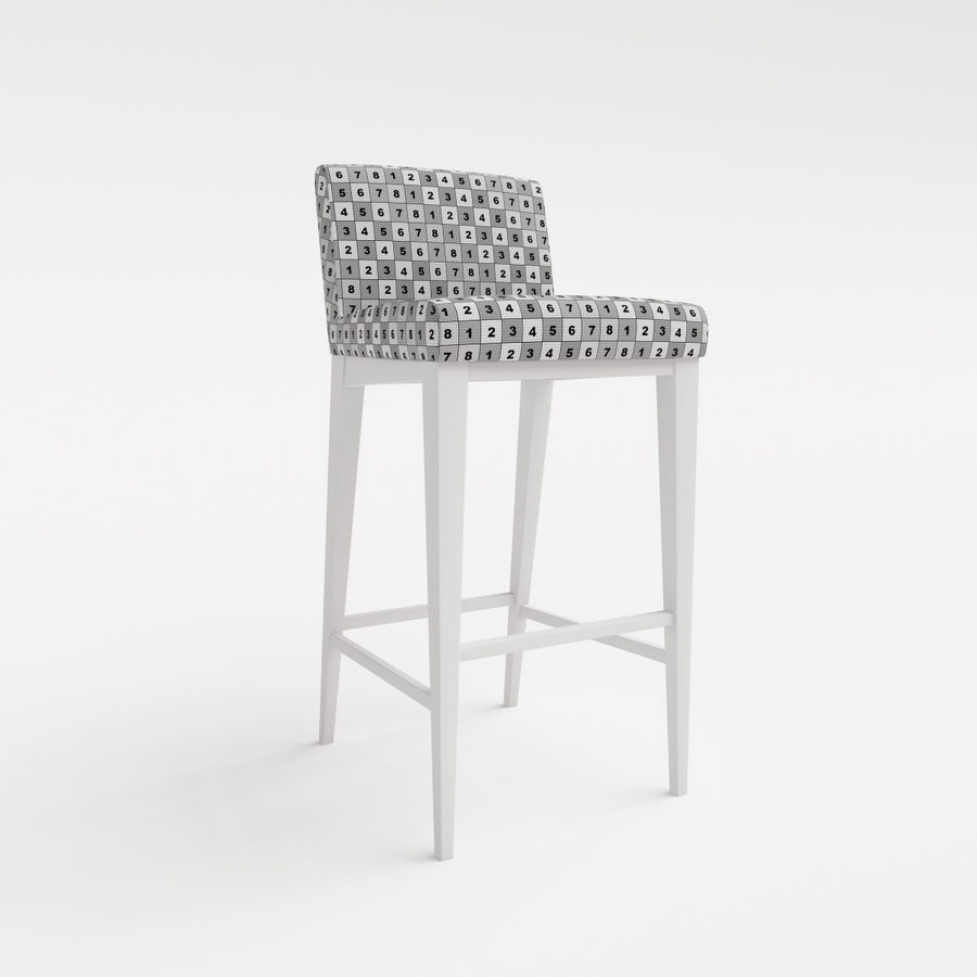 Morgan Furniture city 430 - BARSTOOL royalty-free 3d model - Preview no. 3
