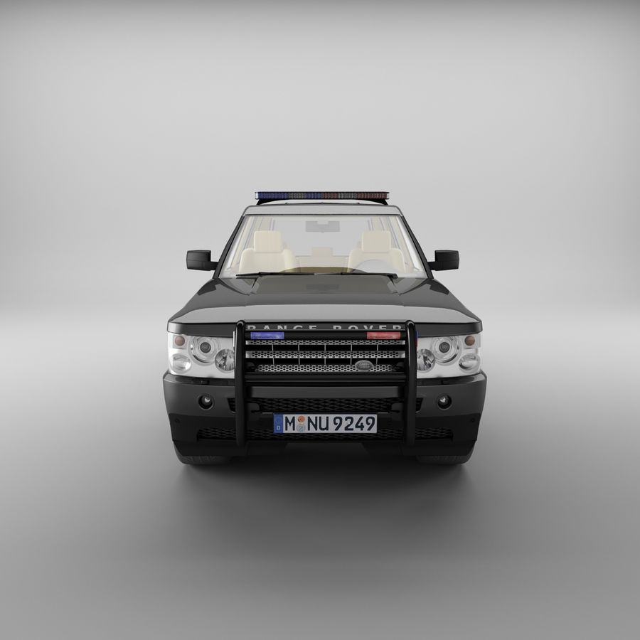 Range Rover Sport Police royalty-free 3d model - Preview no. 3