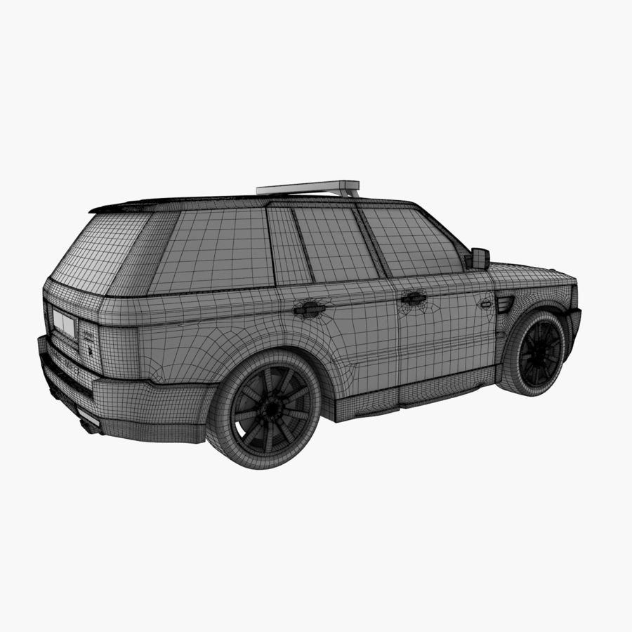 Range Rover Sport Police royalty-free 3d model - Preview no. 14