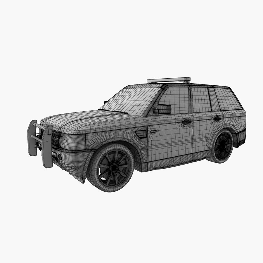 Range Rover Sport Police royalty-free 3d model - Preview no. 13