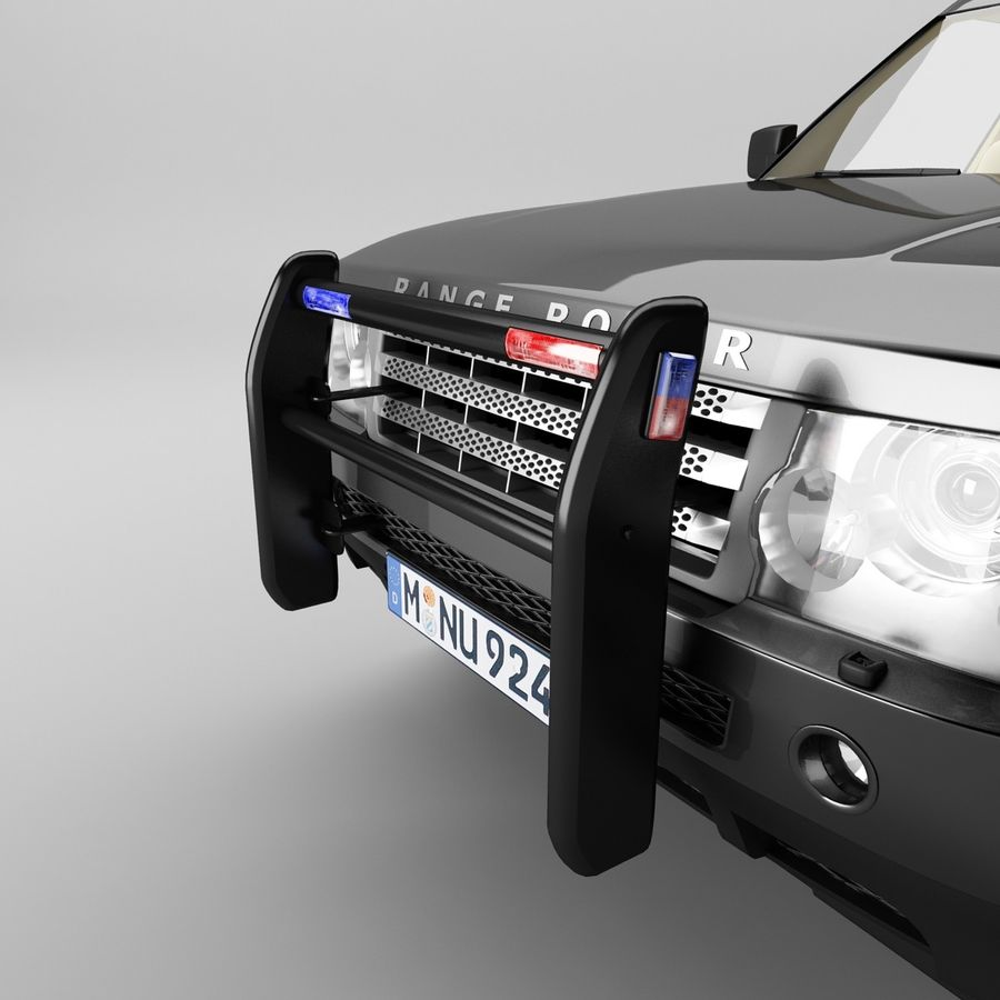 Range Rover Sport Police royalty-free 3d model - Preview no. 6