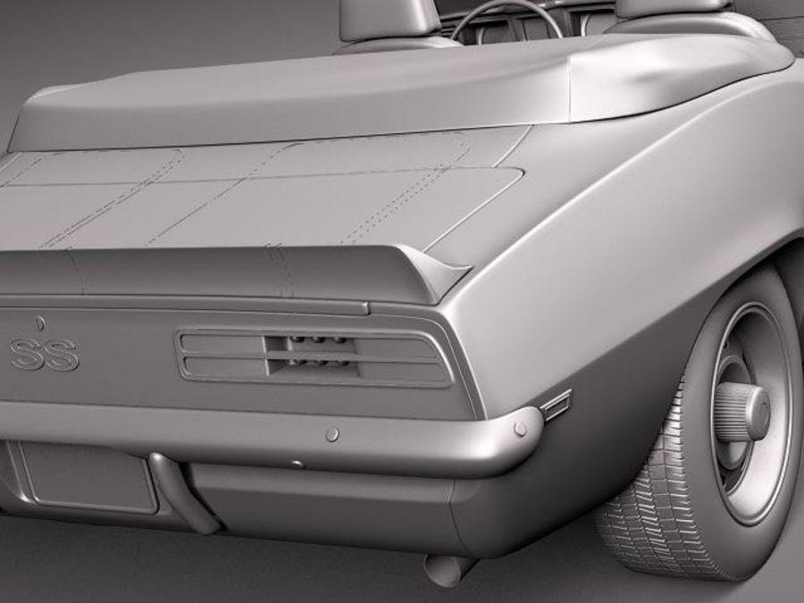 Chevrolet Camaro 1969 SS cabriolet royalty-free 3d model - Preview no. 11