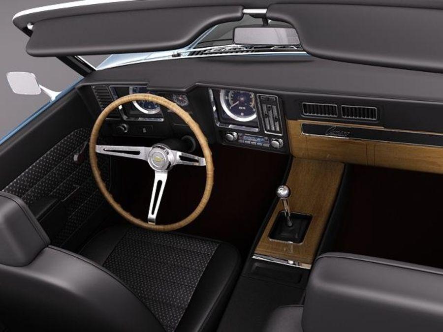 Chevrolet Camaro 1969 SS cabriolet royalty-free 3d model - Preview no. 9