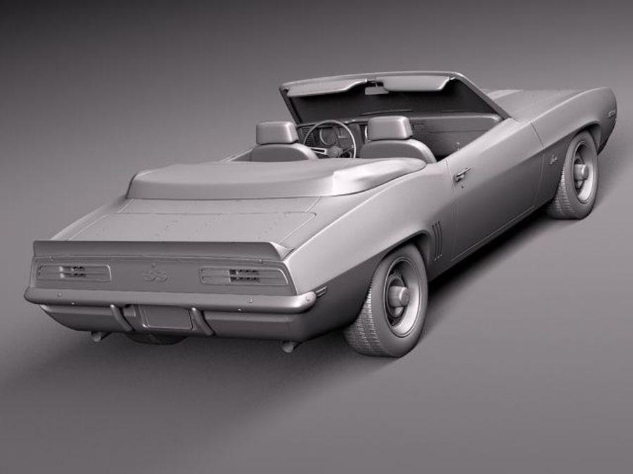 Chevrolet Camaro 1969 SS cabriolet royalty-free 3d model - Preview no. 10