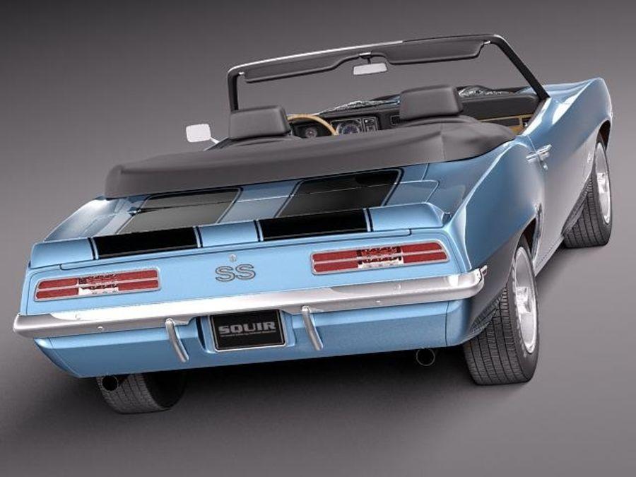 Chevrolet Camaro 1969 SS cabriolet royalty-free 3d model - Preview no. 6