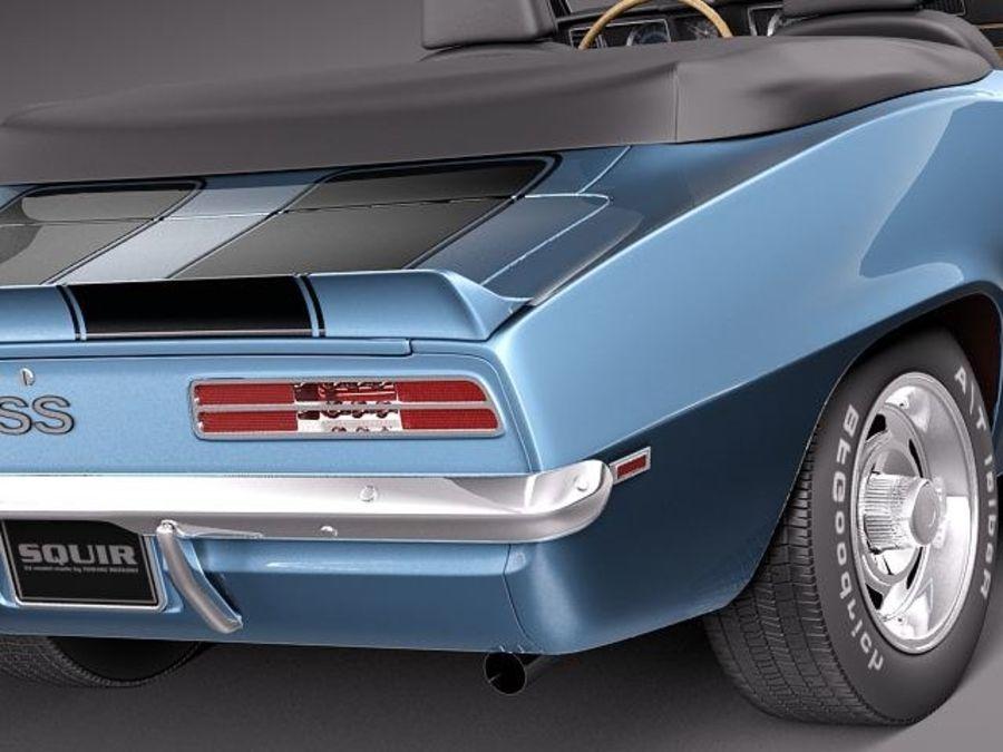 Chevrolet Camaro 1969 SS cabriolet royalty-free 3d model - Preview no. 4