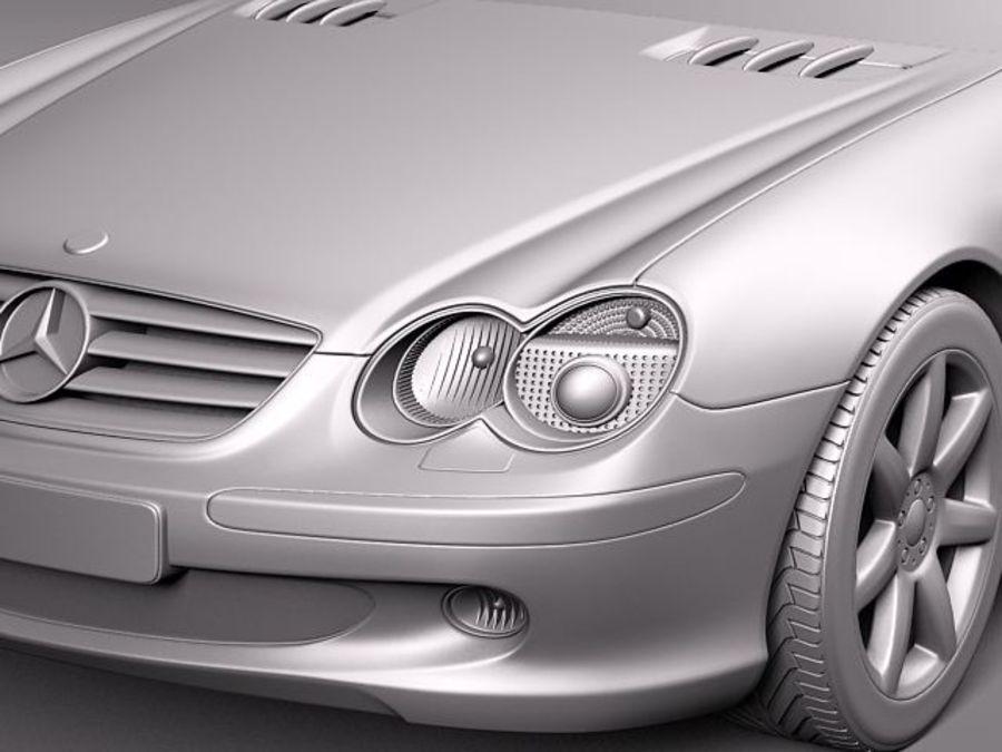Mercedes-Benz SL 2003-2007 royalty-free 3d model - Preview no. 13