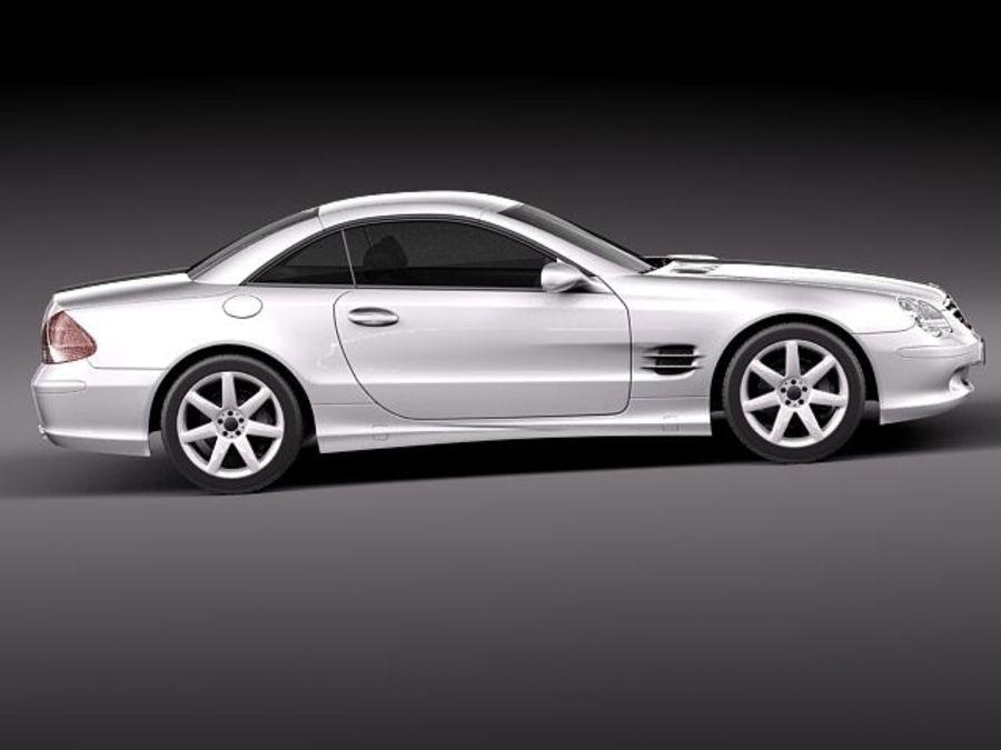 Mercedes-Benz SL 2003-2007 royalty-free 3d model - Preview no. 7