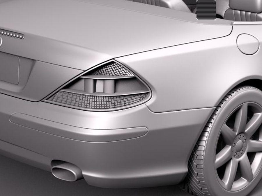 Mercedes-Benz SL 2003-2007 royalty-free 3d model - Preview no. 14