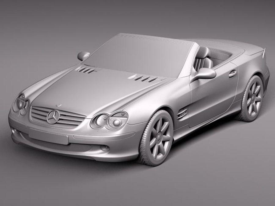 Mercedes-Benz SL 2003-2007 royalty-free 3d model - Preview no. 12