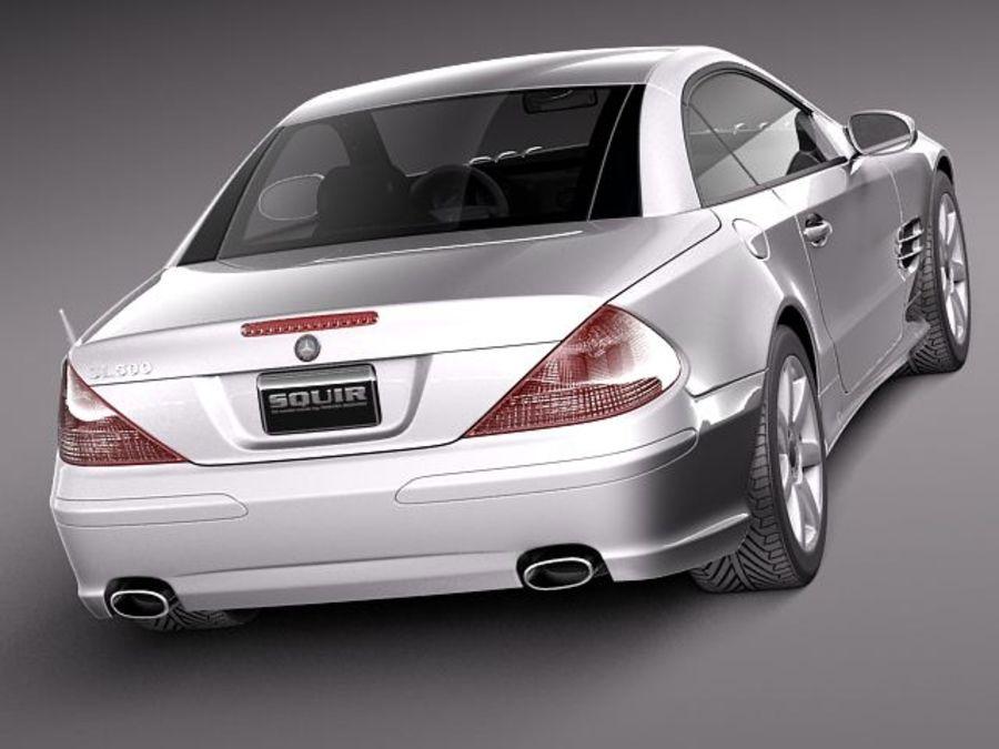 Mercedes-Benz SL 2003-2007 royalty-free 3d model - Preview no. 6