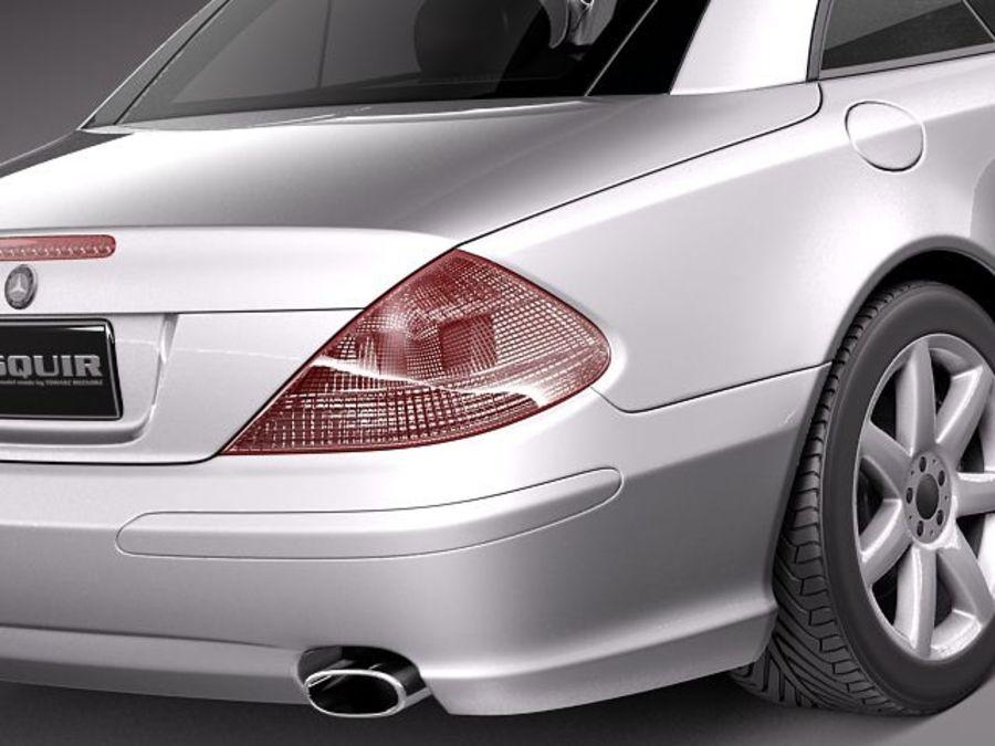 Mercedes-Benz SL 2003-2007 royalty-free 3d model - Preview no. 4