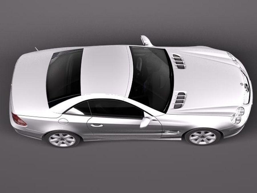 Mercedes-Benz SL 2003-2007 royalty-free 3d model - Preview no. 8