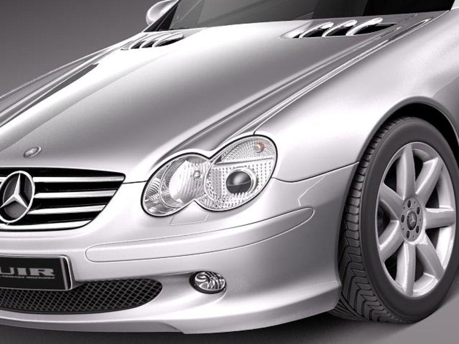 Mercedes-Benz SL 2003-2007 royalty-free 3d model - Preview no. 3