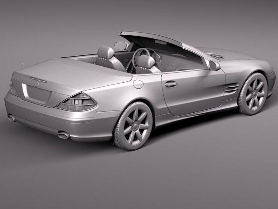 Mercedes-Benz SL 2003-2007 royalty-free 3d model - Preview no. 11