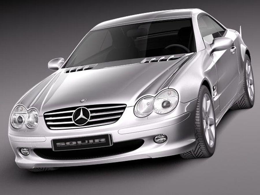 Mercedes-Benz SL 2003-2007 royalty-free 3d model - Preview no. 2