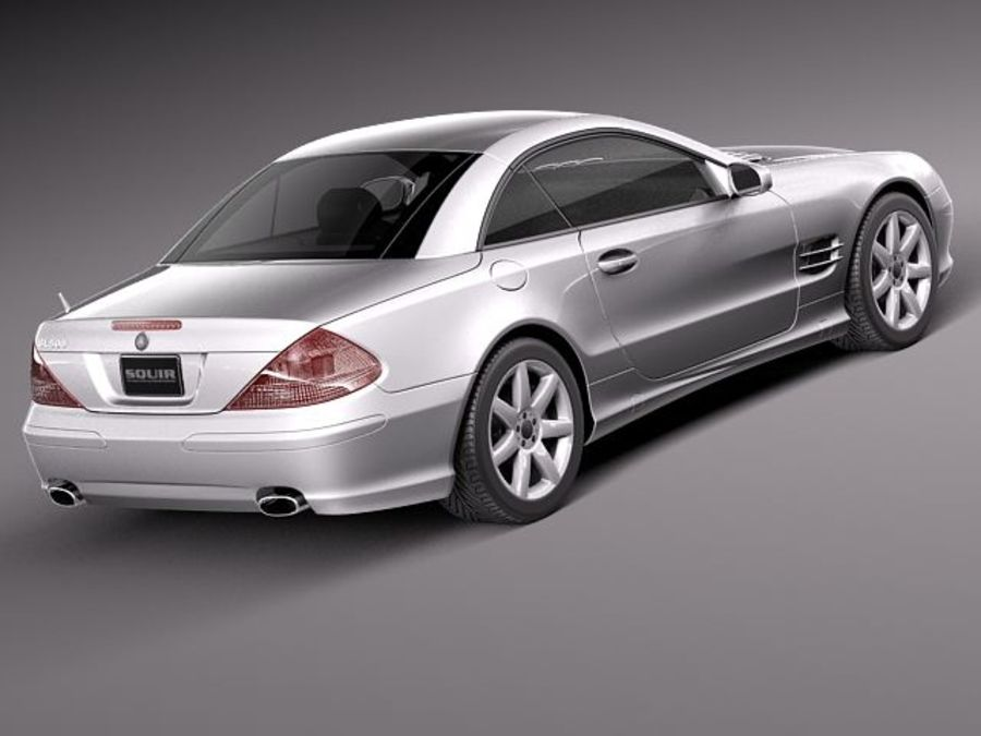 Mercedes-Benz SL 2003-2007 royalty-free 3d model - Preview no. 5