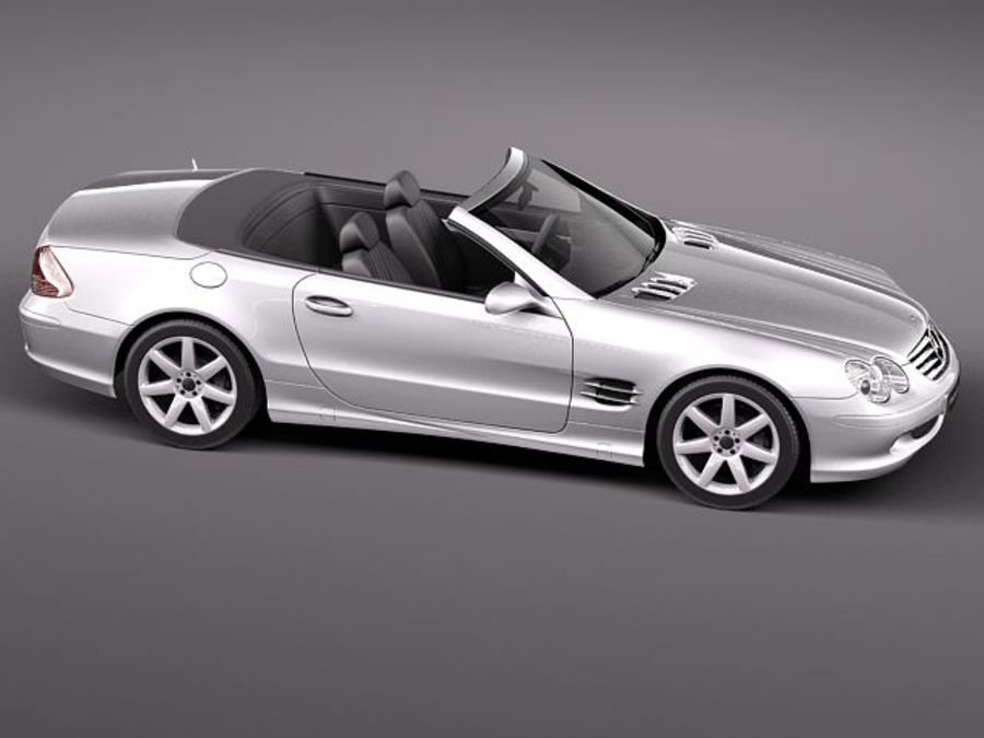 Mercedes-Benz SL 2003-2007 royalty-free 3d model - Preview no. 10