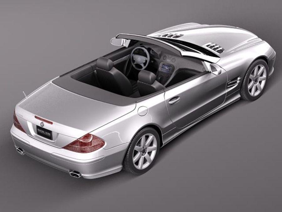 Mercedes-Benz SL 2003-2007 royalty-free 3d model - Preview no. 9