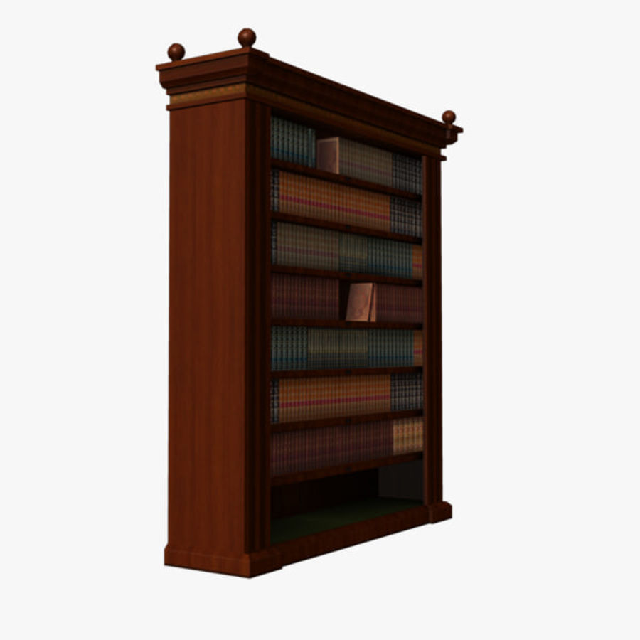 półka na książki royalty-free 3d model - Preview no. 4