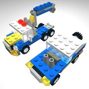 Lego engineering truck 3d model