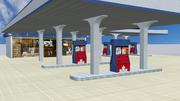 Stazione di servizio 3d model