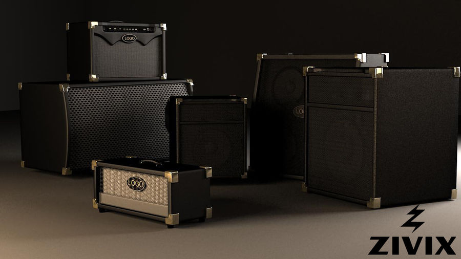 Speakers & Amplifiers royalty-free 3d model - Preview no. 1
