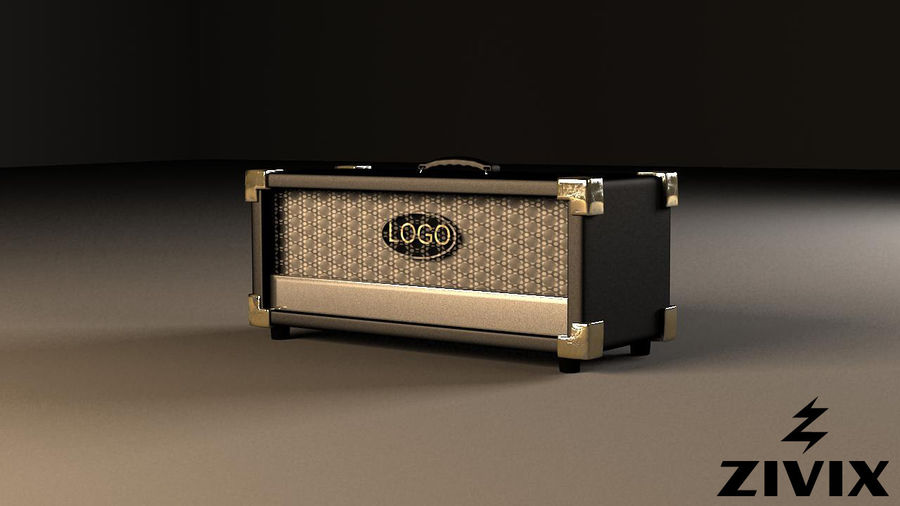 Speakers & Amplifiers royalty-free 3d model - Preview no. 4