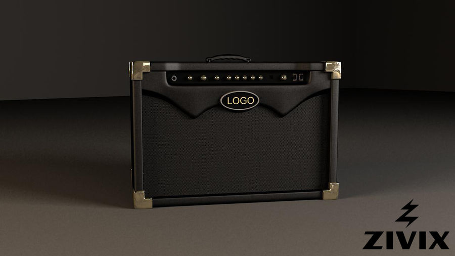 Speakers & Amplifiers royalty-free 3d model - Preview no. 2