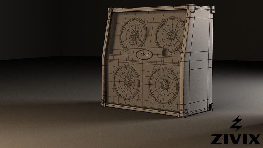 Speakers & Amplifiers royalty-free 3d model - Preview no. 10