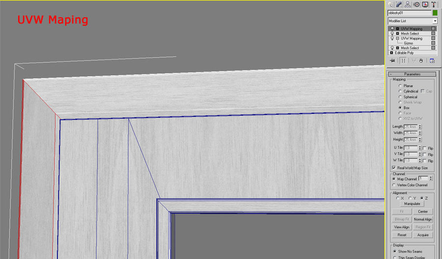 Дверь 04 royalty-free 3d model - Preview no. 3