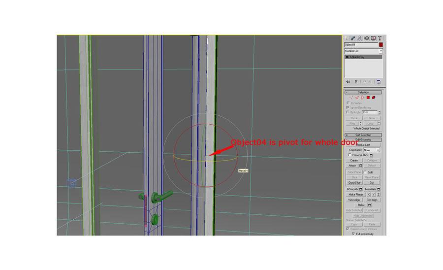 Дверь 04 royalty-free 3d model - Preview no. 4