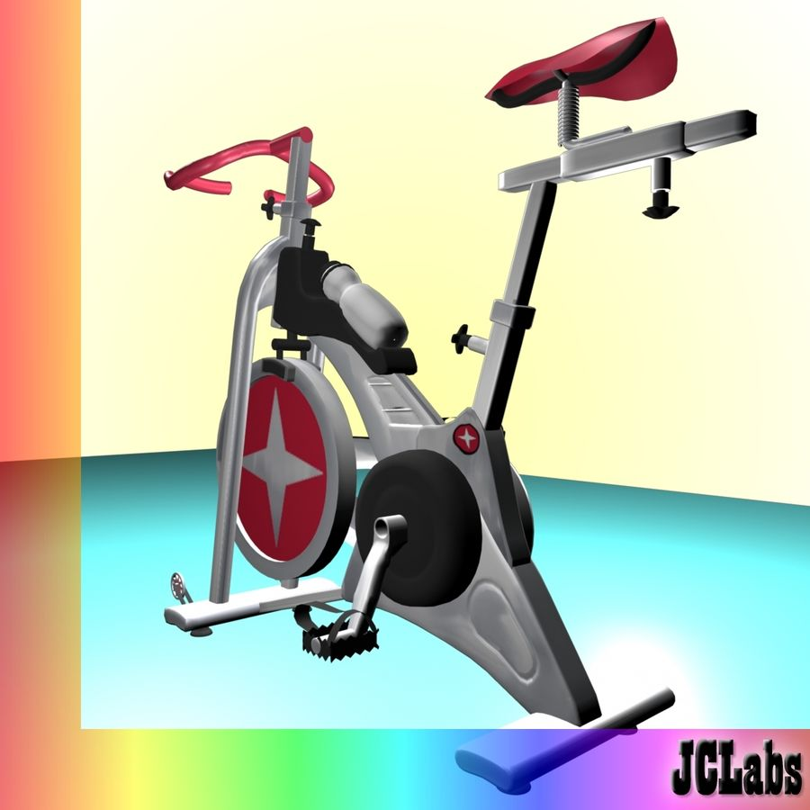 Gym Bicycle royalty-free 3d model - Preview no. 4
