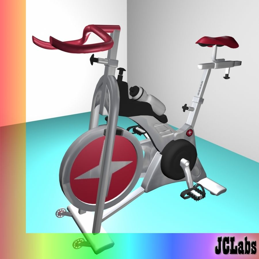 Gym Bicycle royalty-free 3d model - Preview no. 3