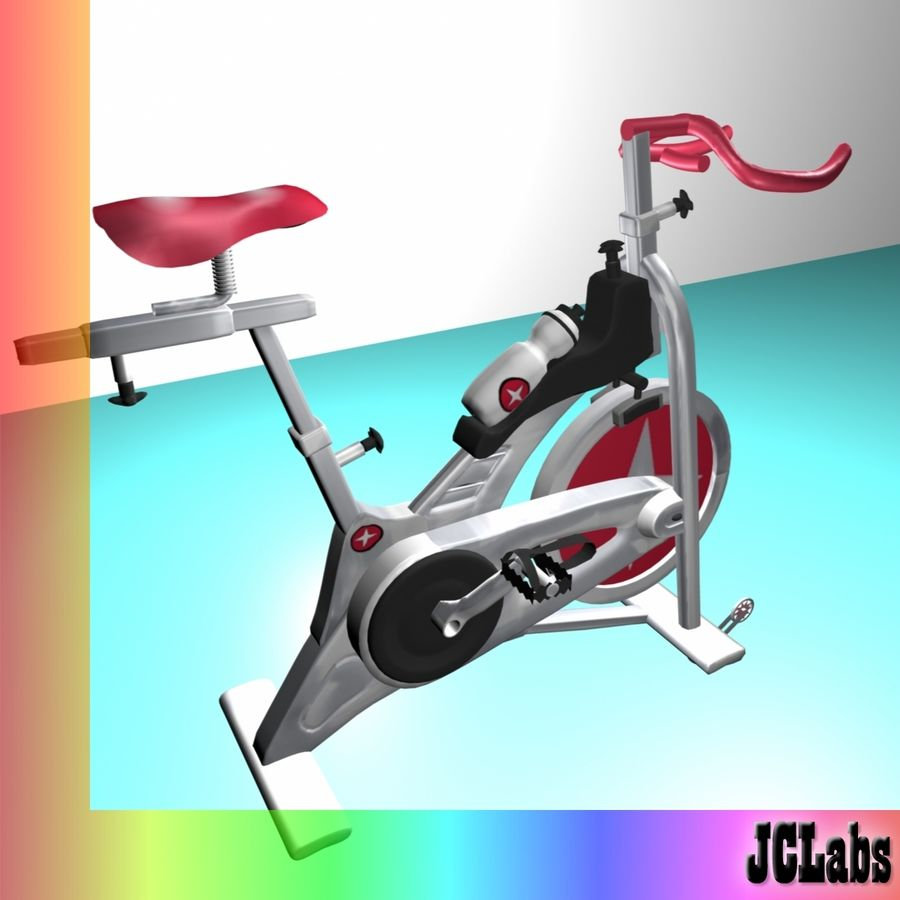 Gym Bicycle royalty-free 3d model - Preview no. 2