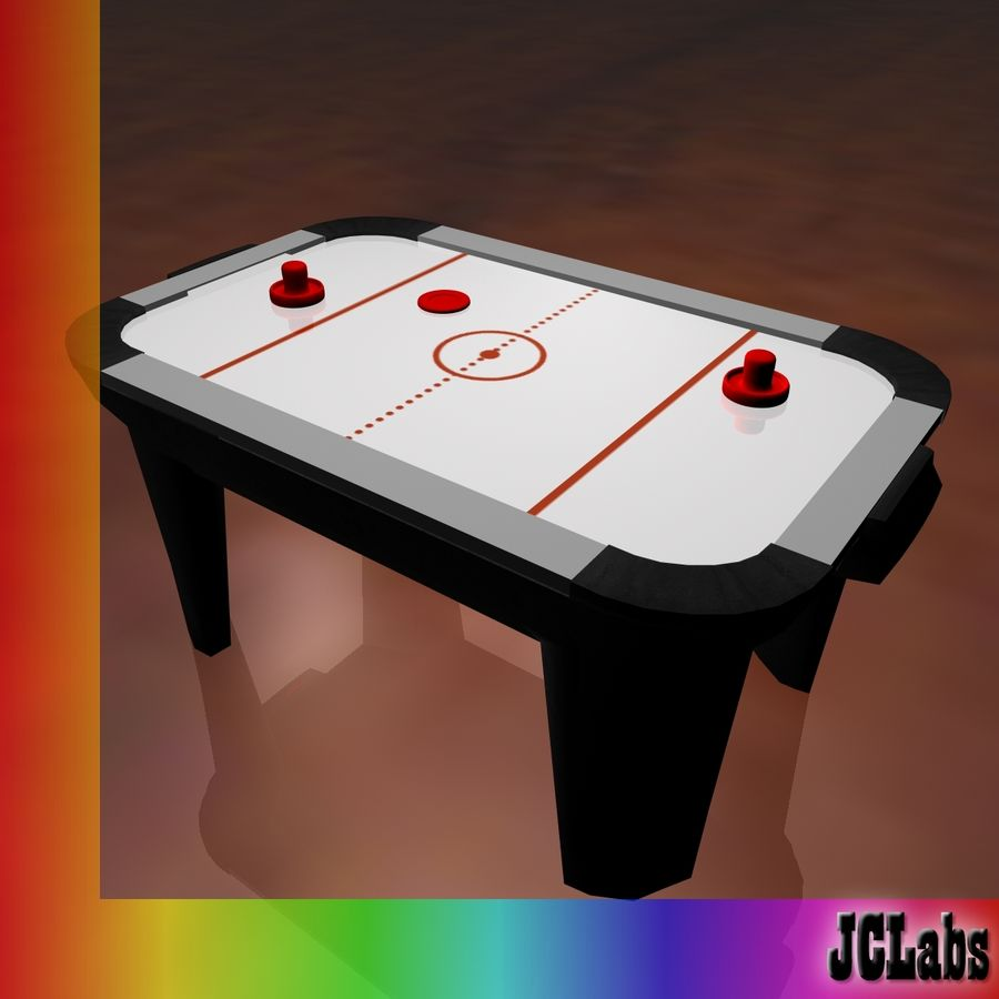 Air Hockey royalty-free 3d model - Preview no. 4