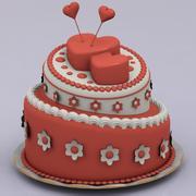 Hearth Cake 3d model
