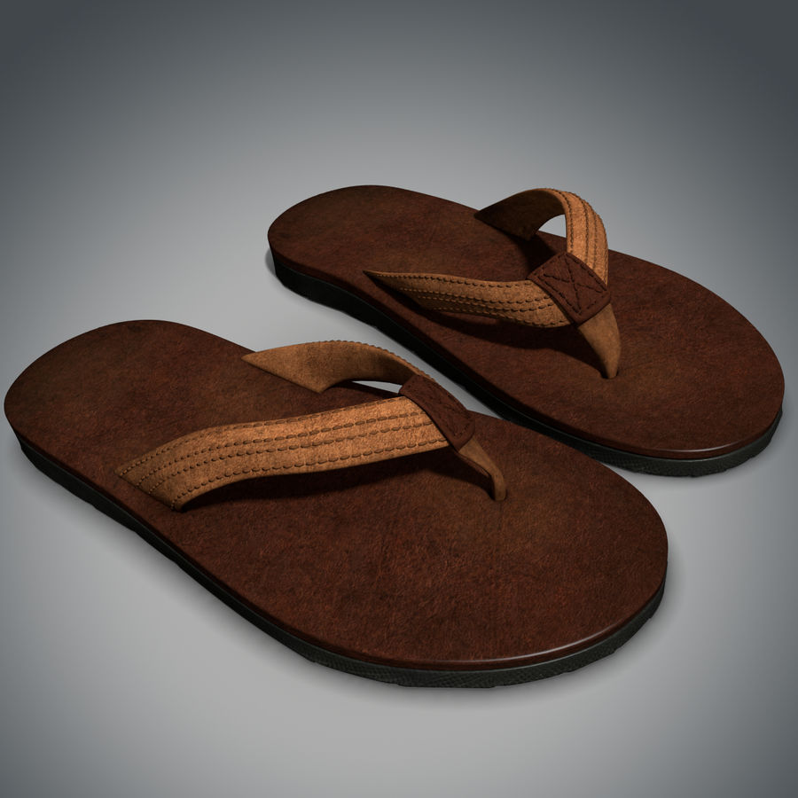 Sandals royalty-free 3d model - Preview no. 2