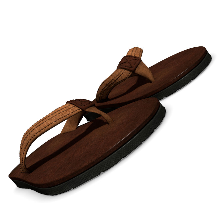 Sandals royalty-free 3d model - Preview no. 3