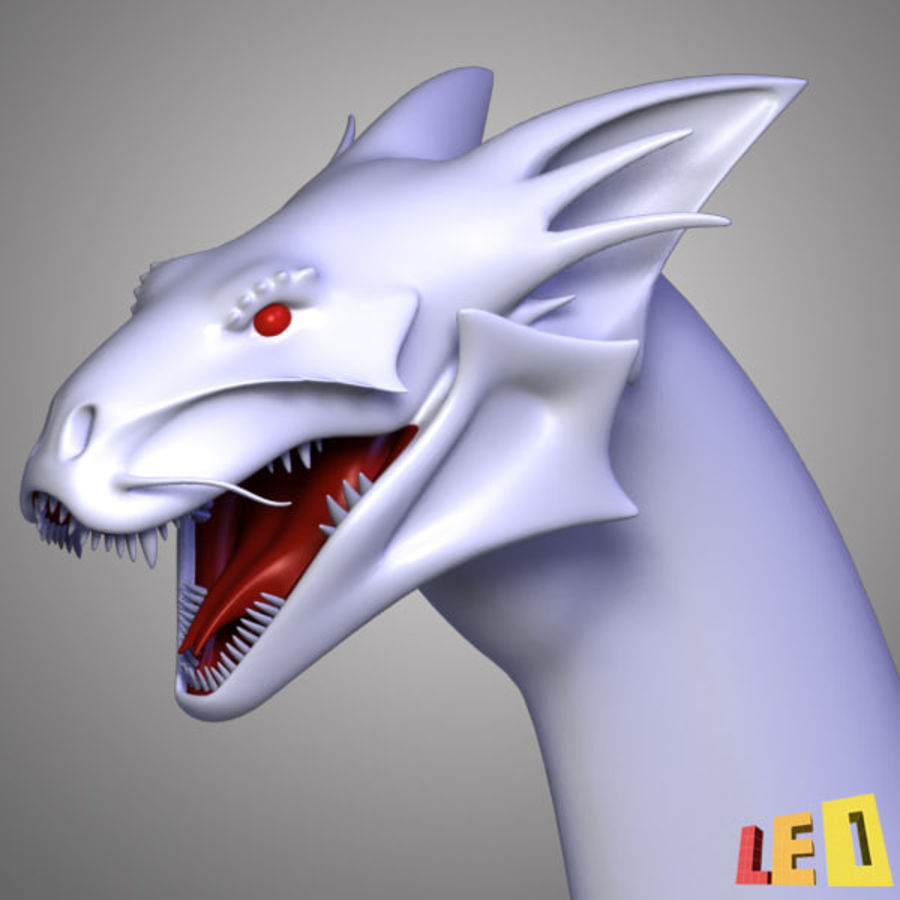 Dragon Head royalty-free 3d model - Preview no. 3