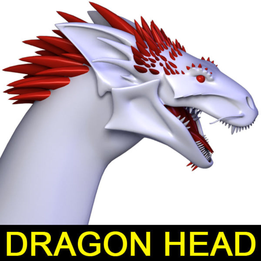 Dragon Head royalty-free 3d model - Preview no. 1