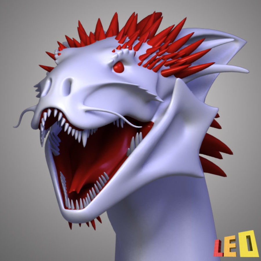 Dragon Head royalty-free 3d model - Preview no. 5